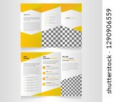 double sided corporate trifold... | Shutterstock .eps vector #1290906559