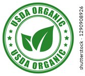 Usda Organic Vector Label...