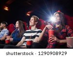 view from side of girl in red... | Shutterstock . vector #1290908929