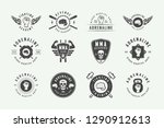 set of vintage mixed martial... | Shutterstock .eps vector #1290912613