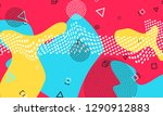 80s. pop art color background.... | Shutterstock .eps vector #1290912883
