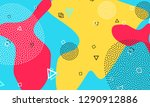 shapes abstract background.... | Shutterstock .eps vector #1290912886