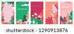 vector set of abstract... | Shutterstock .eps vector #1290913876