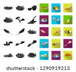 cooking food black flat icons... | Shutterstock .eps vector #1290919213