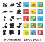 cooking food black flat icons... | Shutterstock .eps vector #1290919216