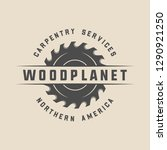 vintage carpentry  woodwork and ... | Shutterstock . vector #1290921250