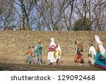 Small photo of GONDER, ETHIOPIA - MARCH 25: Unidentified Ethiopian people walk to church service during annual Abye Tsome (Great Fast) in Gonder, Ethiopia on March 25, 2012. White clothes mean fasting in Ethiopia.