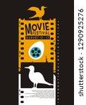 movie poster festival creative... | Shutterstock .eps vector #1290925276