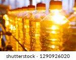 sunflower oil. line for the... | Shutterstock . vector #1290926020