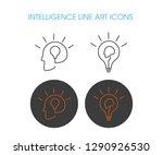 intelligence vector line icons. ... | Shutterstock .eps vector #1290926530