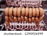 food production of sausages at... | Shutterstock . vector #1290926599