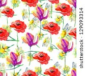 seamless floral pattern. | Shutterstock . vector #129093314