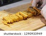 japanese omelette  roll of... | Shutterstock . vector #1290933949