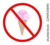 sweet ice cream in the cone.... | Shutterstock .eps vector #1290935890