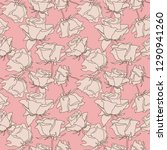 seamless pattern with hand... | Shutterstock .eps vector #1290941260