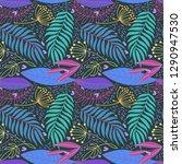 beautiful hand drawn plants... | Shutterstock .eps vector #1290947530
