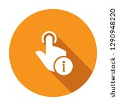 hand icon  gestures icon with... | Shutterstock .eps vector #1290948220