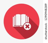 book icon  education icon with... | Shutterstock .eps vector #1290948289