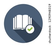 book icon  education icon with... | Shutterstock .eps vector #1290948319