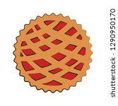 cherry pie vector illustration | Shutterstock .eps vector #1290950170