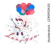 love you tooth. vector...   Shutterstock .eps vector #1290953410