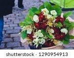 beautiful bouquet of bright...   Shutterstock . vector #1290954913