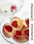 fresh raspberry in champagne... | Shutterstock . vector #1290955966