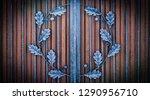 wrought iron gates  ornamental... | Shutterstock . vector #1290956710
