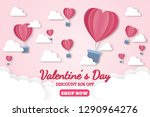 banner valentine day design for ... | Shutterstock .eps vector #1290964276
