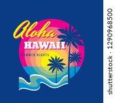 aloha hawaii summertime   badge ...   Shutterstock .eps vector #1290968500