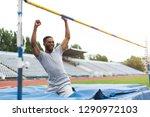 athlete man trainig high... | Shutterstock . vector #1290972103