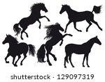 horses | Shutterstock . vector #129097319