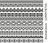 a monochrome vector set of... | Shutterstock .eps vector #1290978733