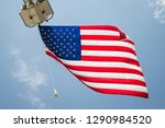 american flag in air   Shutterstock . vector #1290984520