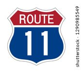 us route 11 sign shield sign... | Shutterstock .eps vector #1290985549