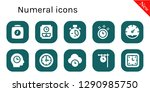numeral icon set. 10 filled...   Shutterstock .eps vector #1290985750