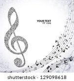 a g clef and notes design