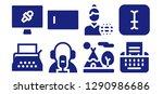 typewriter icon set. 8 filled... | Shutterstock .eps vector #1290986686