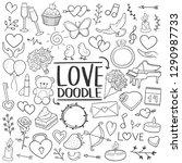 love valentines heart... | Shutterstock .eps vector #1290987733