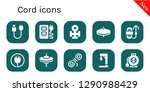cord icon set. 10 filled cord... | Shutterstock .eps vector #1290988429