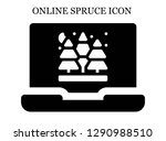 spruce search icon. editable... | Shutterstock .eps vector #1290988510