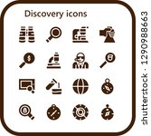 discovery icon set. 16 filled...   Shutterstock .eps vector #1290988663