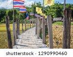 su tong pae bamboo bridge with...   Shutterstock . vector #1290990460