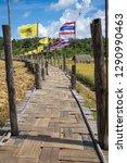 su tong pae bamboo bridge with...   Shutterstock . vector #1290990463