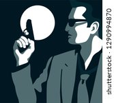 policeman  detective  secret... | Shutterstock .eps vector #1290994870