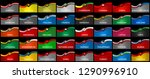 big pack of 40 world country...   Shutterstock .eps vector #1290996910