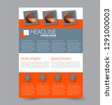 flyer template. design for a... | Shutterstock .eps vector #1291000003