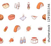 japanese food and snacks set.... | Shutterstock .eps vector #1291001146