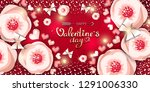 happy valentine's day the... | Shutterstock .eps vector #1291006330