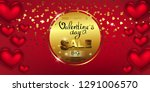 happy valentine's day  sale ... | Shutterstock .eps vector #1291006570